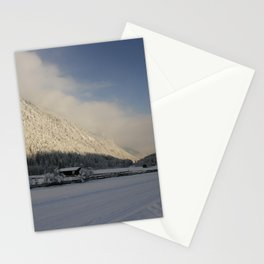 A Peaceful Snow Landsscape Stationery Cards