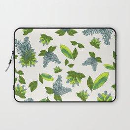 Leaf print with light eggshell background #gardenchic #leafprint Laptop Sleeve