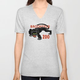 Black panther Brookfield Zoo ad Unisex V-Neck