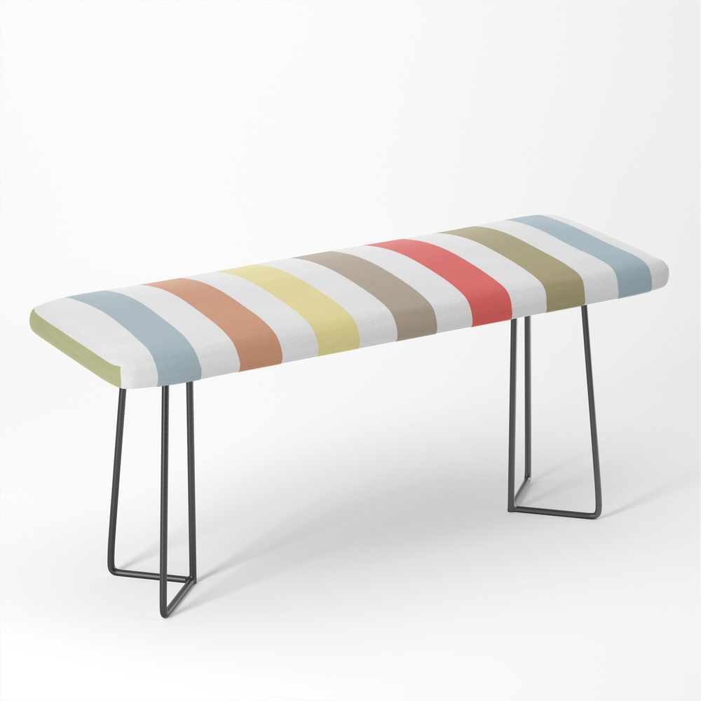 Multi-Colored_Striped_Multicoloredstripes_Simple_Minimalist_Bench_by_palitraart