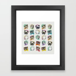 Cats & Bowties Framed Art Print