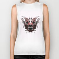 beast Biker Tanks featuring Beast by WES EXOTIC IMAGERY
