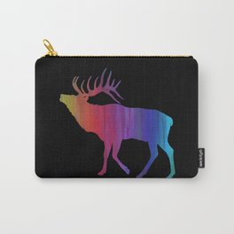 Rainbow Watercolor Dripping Elk Carry-All Pouch