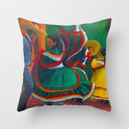 Baile Folklorico Throw Pillow