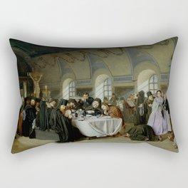 Vasily Perov - Monastic Refectory Rectangular Pillow