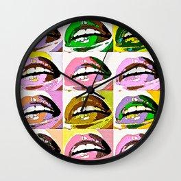 LIPS LIPS KISSABLE LIPS Wall Clock
