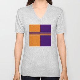 Team Colors 6....Orange,purple Unisex V-Neck