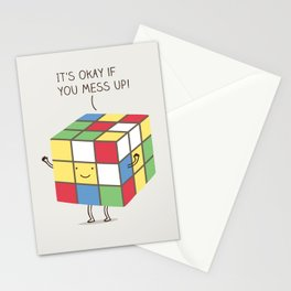 it's okay if you mess up! Stationery Cards