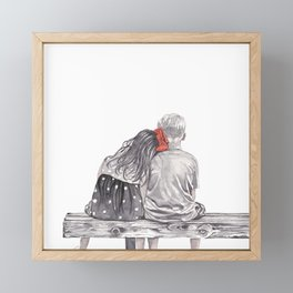 Boy Meets Girl Framed Mini Art Print