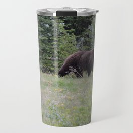 Grizzly bears in the Rocky Mountains Travel Mug