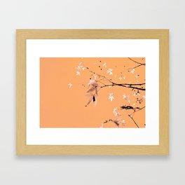 berries leaves and salmon Framed Art Print