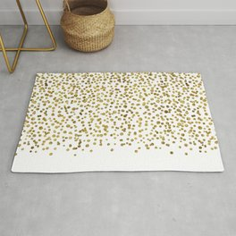 Gold Confetti Sparkle and Shine Rug