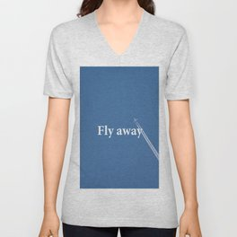 Flay away Unisex V-Neck
