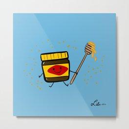 Vegemite Honey Metal Print