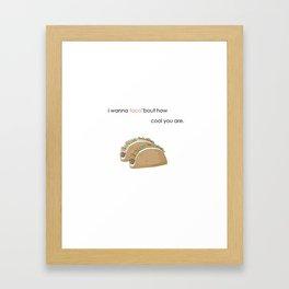Taco Love Framed Art Print