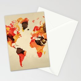 Design 138 World Map Stationery Cards
