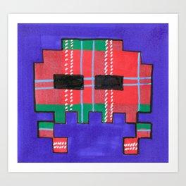 Tartan Invader #1 Art Print