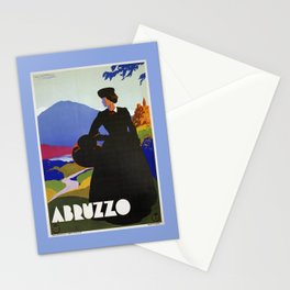Abruzzo Italian travel Lady on a walk Stationery Cards