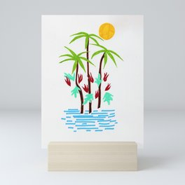 Tropical abstraction Mini Art Print