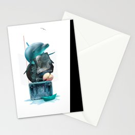 BREATHE (Totem of the Dolphin) Stationery Cards
