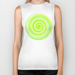 Re-Created Spin Painting (Yellow & Green) by Robert S. Lee Biker Tank
