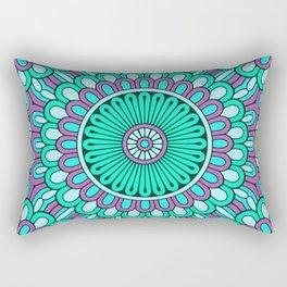 Cyan Purple Mandala Rectangular Pillow