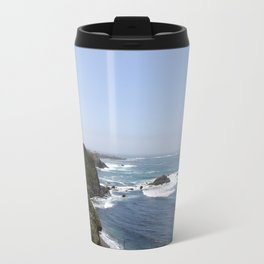 Crashing Waves On California Coastline Travel Mug