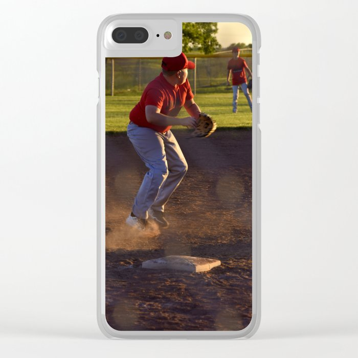 new product c37d4 03233 Baseball Action Clear iPhone Case