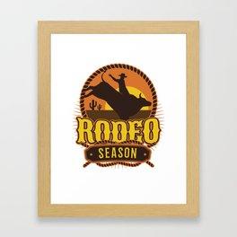 Rodeo Season Framed Art Print