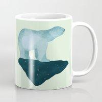 polar bear Mugs featuring Polar Bear by Arts and Herbs