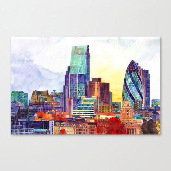 Sunshine in London Canvas Print