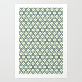 Grey Graphic Flower Art Print