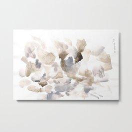180630 Grey Abstract Watercolour Black Brown 12 | Watercolor Brush Strokes Metal Print