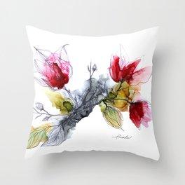 Le temps des Magnolias Throw Pillow