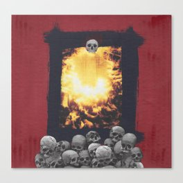 Totem of Skulls Canvas Print