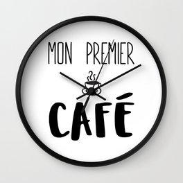 Mon premier CAFÉ Wall Clock