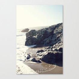 the beach in Cayucos Canvas Print
