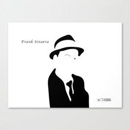 Frank Sinatra, by Will Zurmann Canvas Print