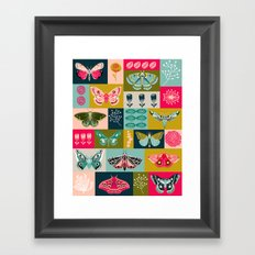 Lepidoptery tiles by Andrea Lauren  Framed Art Print