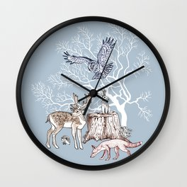 Forest animals graphics Wall Clock