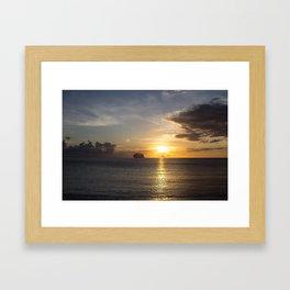 Sailing off into the Sun Framed Art Print