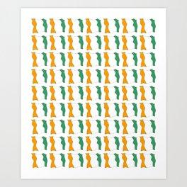 flag of ivory coast-africa,ivorian,ivoirian,cote d'ivoire,ivorien,abidjan,yamoussokro Art Print