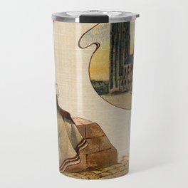 Mechelen lace making litho ca 1900 Travel Mug