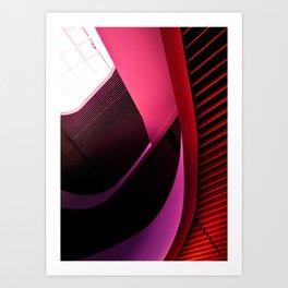 Urban Beauty in Pink Art Print