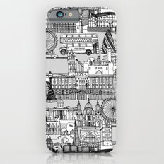 London toile black white Slim Case iPhone 6s