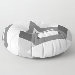 Abstract geometric line design Floor Pillow