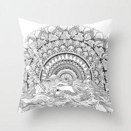 Spaghetti Sunrise Throw Pillow
