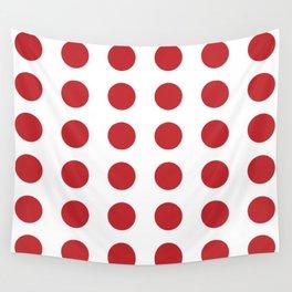 Retro Red Polka Dots #kirovair #home #decor #retrostyle #polkadots #stylish #sixties Wall Tapestry