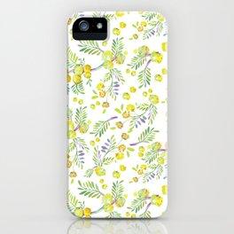 Watercolor Wattle Garden iPhone Case