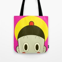 poker Tote Bags featuring Poker Face by Cyborgking